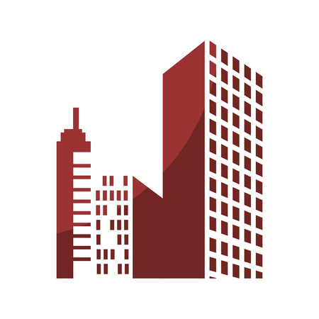 city buildings icon over white background vector illustration Ilustrace
