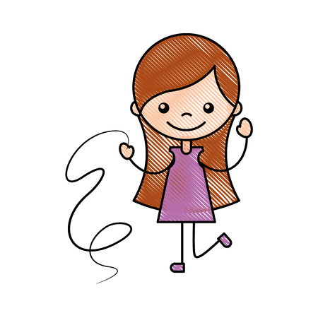 baby facial expressions: cute girl with ribbon character icon vector illustration design