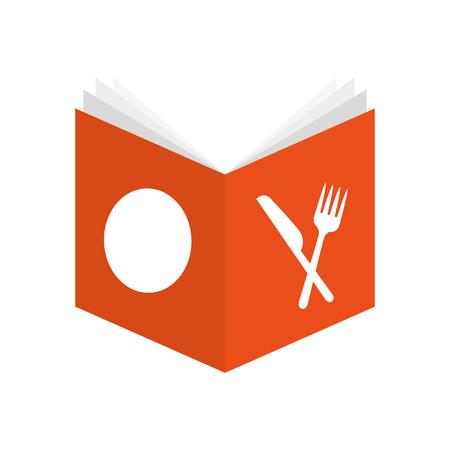 recipe book isolated icon vector illustration design Illustration