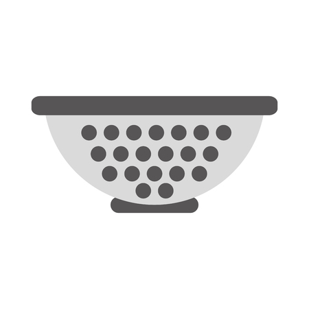 colander: Metal kitchen strainer icon vector illustration design