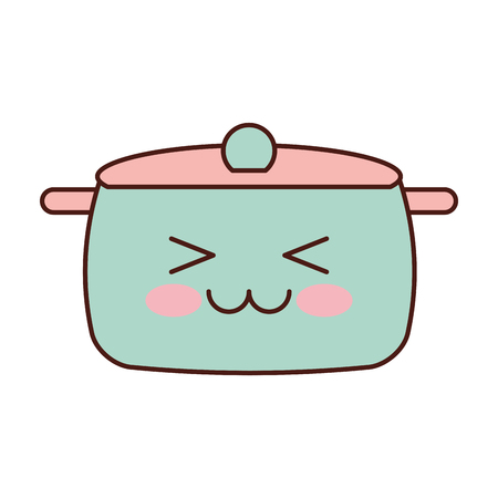 kitchen pot  character vector illustration design