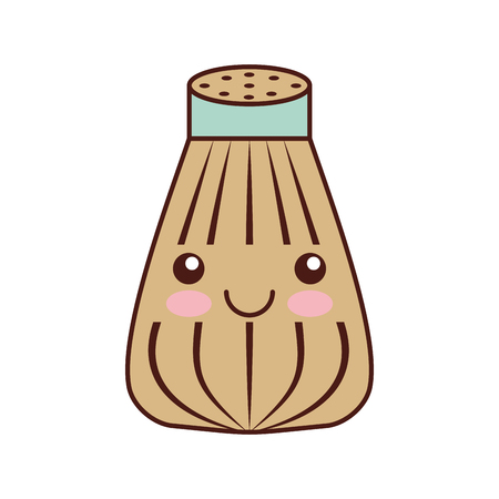 salt shaker kawaii character vector illustration design