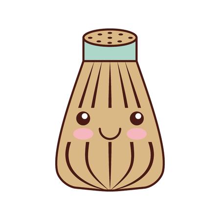 salt shaker kawaii character vector illustration design