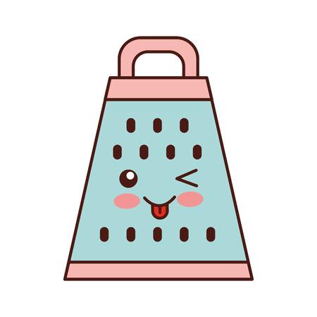 Ontwerp van de het karakter het vectorillustratie van de keukenrash kawaii Stock Illustratie