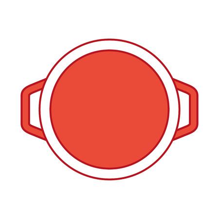 kitchen pot isolated icon vector illustration design 向量圖像