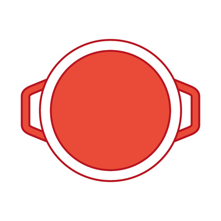 Olla de cocina aislado icono de ilustración vectorial de diseño Foto de archivo - 81104752