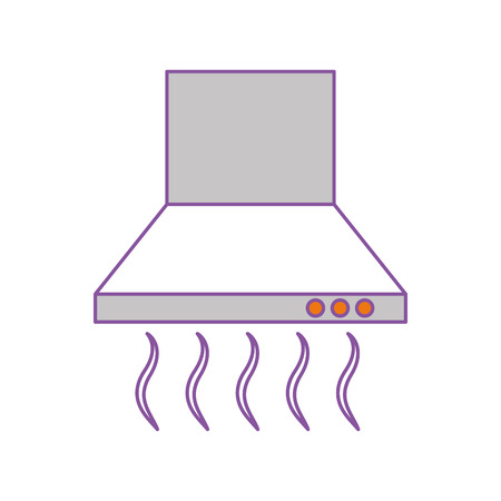 Extracteur de cuisine isolé icône vecteur illustration design Banque d'images - 81104791
