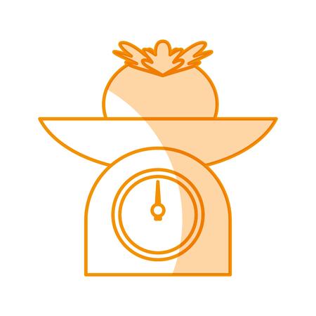 kitchen balance with tomatoes vector illustration design