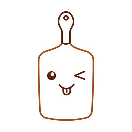 keuken bord kawaii karakter vector illustratie ontwerp