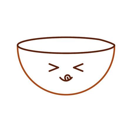 Kitchen vessel kawaii character vector illustration design.