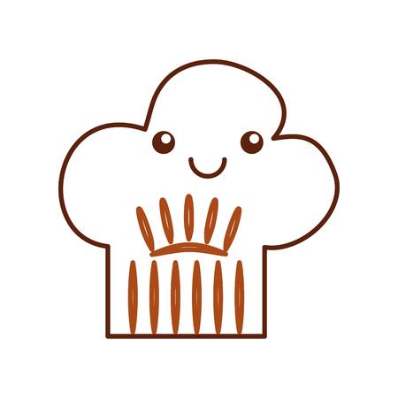 Chef hat kawaii character vector illustration design.