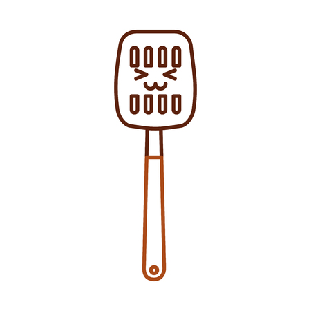 Kitchen spatula tool kawaii character vector illustration design.