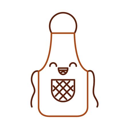 Cook apron kawaii character vector illustration design. Illustration