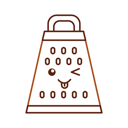 Kitchen grater kawaii character vector illustration design