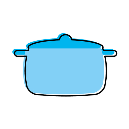 kitchen pot isolated icon vector illustration design Stock Vector - 81104866