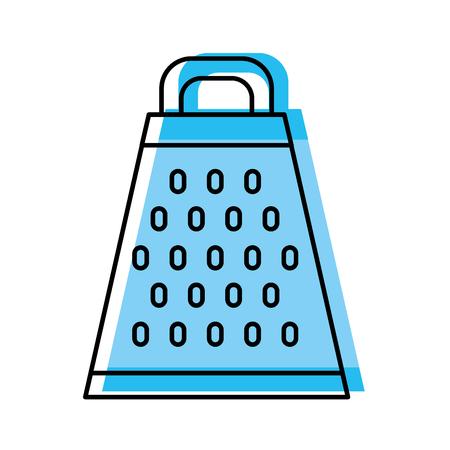 Ikonenvektor-Illustrationsdesign der Küche Reibe lokalisiertes Standard-Bild - 81104877