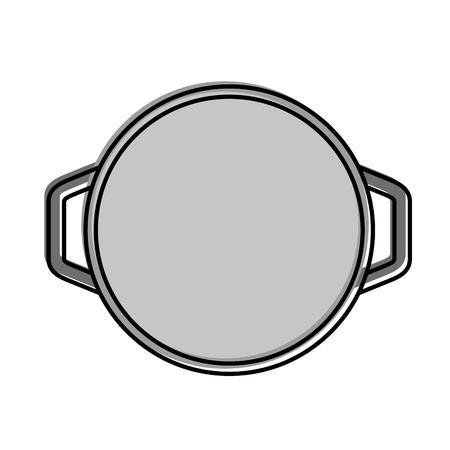 keuken pot geïsoleerd pictogram vector illustratie ontwerp