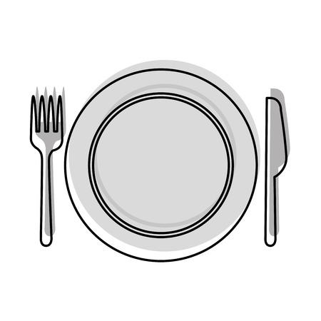 料理ベクトル イラスト デザインでキッチンのカトラリーをセットします。