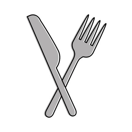 ベクトル イラスト デザイン ナイフとフォーク カトラリー