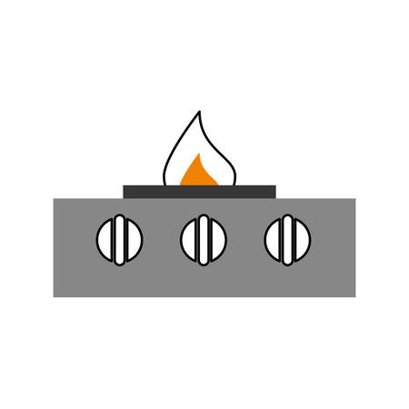 stove gas kitchen icon vector illustration design Ilustração