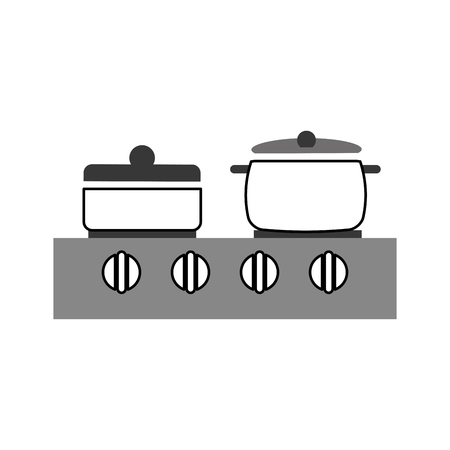 kitchen pot with stove vector illustration design Stock Vector - 81104947