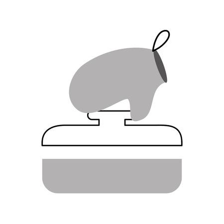 kitchen pot with glove vector illustration design Stock Vector - 81104949