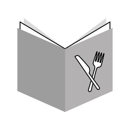 レシピ本分離アイコン ベクトル イラスト デザイン