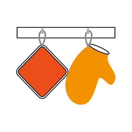 kitchen glove isolated icon vector illustration design