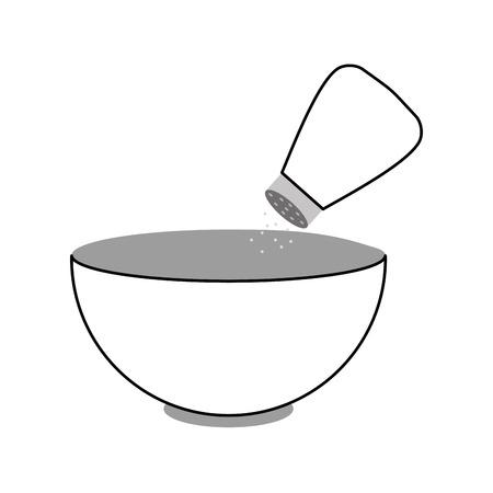 分離された塩のシェーカーのアイコン ベクトル イラスト デザイン皿します。 写真素材 - 81104589