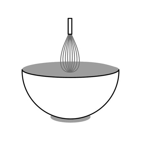 料理ベクトル イラスト デザインとハンドル ミキサー  イラスト・ベクター素材