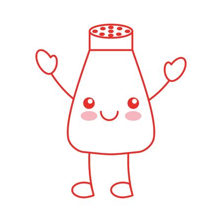 salt shaker character vector illustration design Illustration