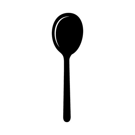 spoon cutlery isolated icon vector illustration design Çizim