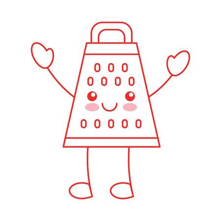 Kitchen grater character vector illustration design