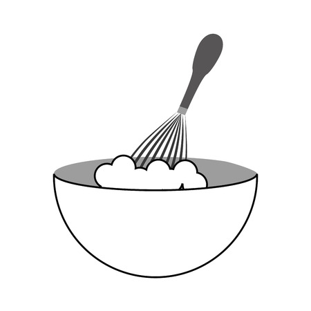 handle mixer with dish vector illustration design