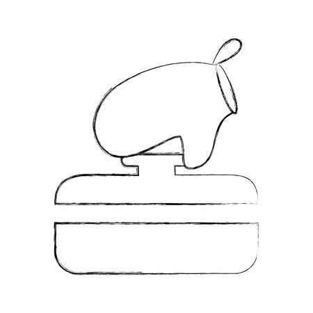 Olla de cocina con guantes ilustración vectorial diseño Foto de archivo - 81104745