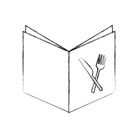 recept boek geïsoleerd pictogram vector illustratie ontwerp