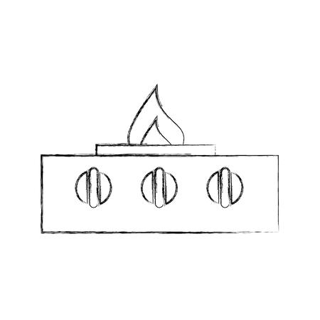 스토브 가스 부엌 아이콘 귀여운 꽃 절연 아이콘 스톡 콘텐츠 - 81083033