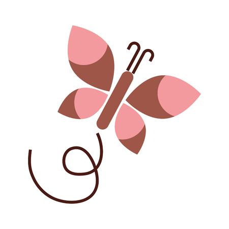 leuke vlinder geïsoleerde pictogram vectorillustratieontwerp