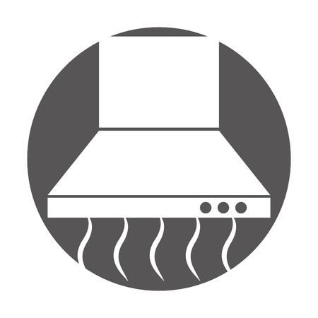 Ikonenvektor-Illustrationsdesign der Küche Extraktor lokalisiertes Standard-Bild - 81082925