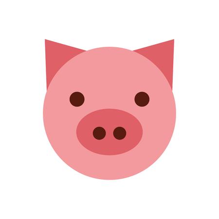 돼지 머리 농장 아이콘 벡터 일러스트 디자인