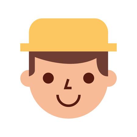 countryman: farmer character isolated icon vector illustration design