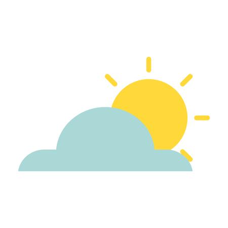 weather cloud with sun isolated icon vector illustration design Ilustração
