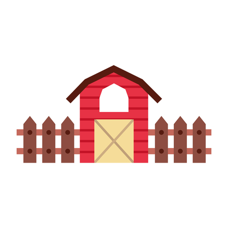 farm stable building icon vector illustration design Ilustração
