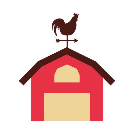 farm stable building icon vector illustration design Illustration