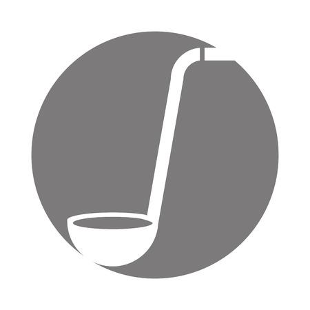 Cuillère à soupe couverts isolé icône illustration vectorielle design Banque d'images - 81083498