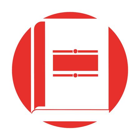 text book isolated icon vector illustration design Ilustração