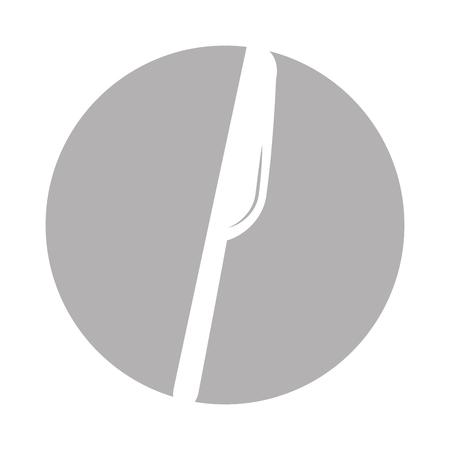 kitchen knife cutlery icon vector illustration design Ilustrace