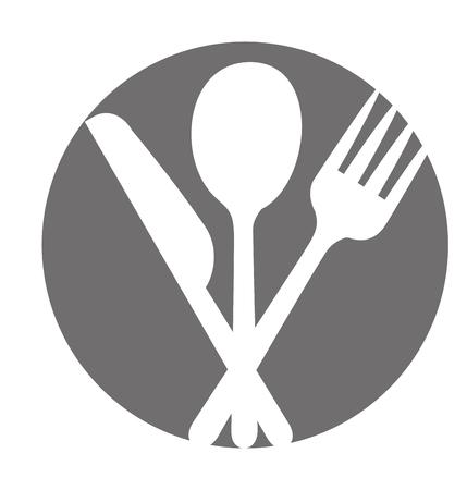 Set disegno dell'illustrazione di vettore dell'icona del coltello della cucina Archivio Fotografico - 81083514