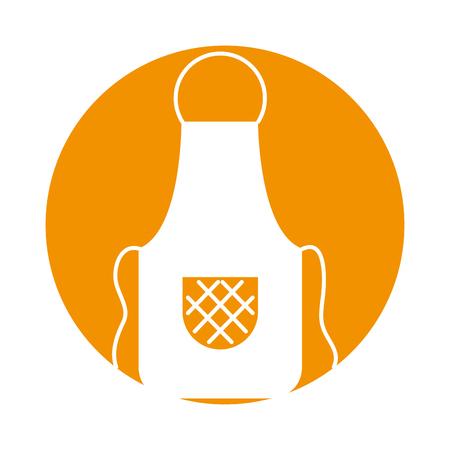 prepare: Cook apron isolated icon vector illustration design