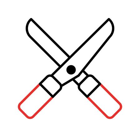 Garden scissors isolated icon vector illustration design Ilustração